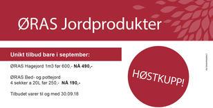 Kampanje på ØRAS Hagejord og ØRAS Bed- og pottejord.